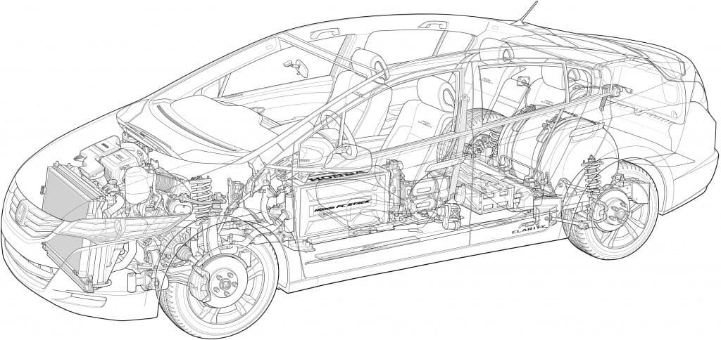 Großzügig Technische Zeichnung Des Autos Galerie - Elektrische ...