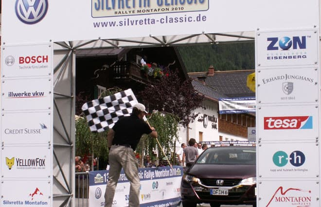 Zieleinfahrt am 3.Tag Silvretta E-Auto