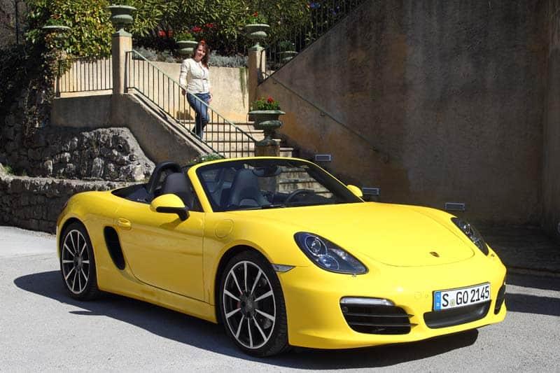 Porsche Boxster S in gelb