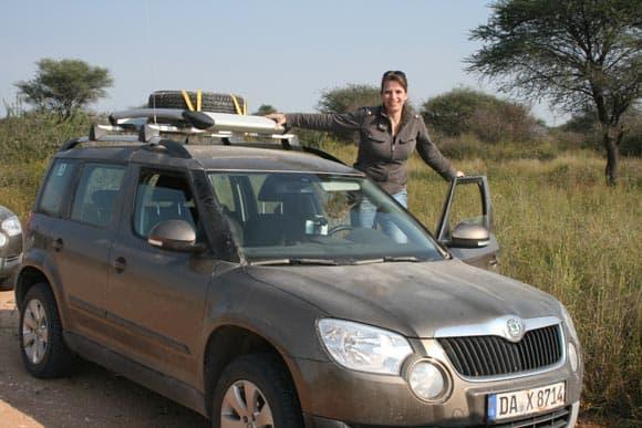 Skoda Yeti in Namibia - mit Auto-Diva Nicole