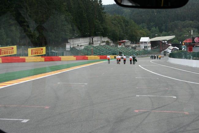 Rennkurs Spa - Streckenbegehung vor der Formel 1 12