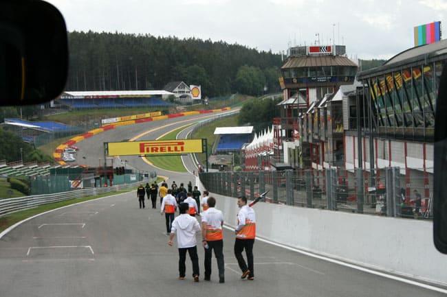 Rennkurs Spa - Streckenbegehung vor der Formel 1 13