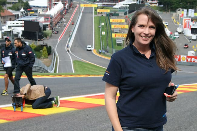 Rennkurs Spa - Streckenbegehung vor der Formel 1 1