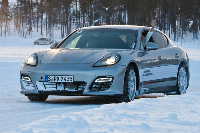 Porsche Panamera Ice-Force in Ivalo