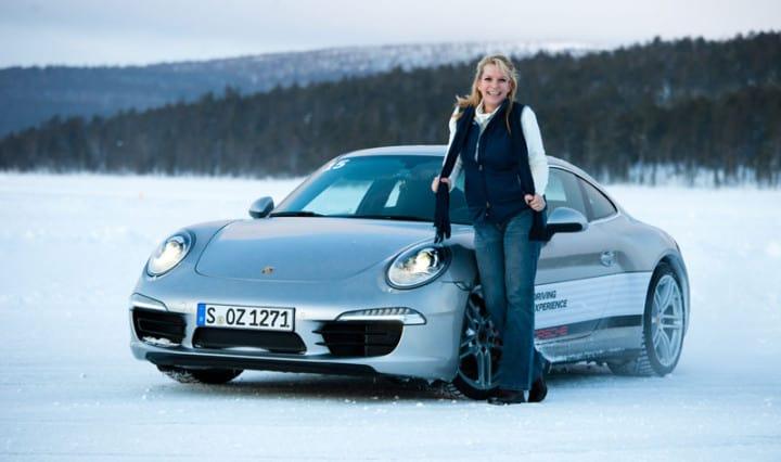 Drift auf Eis mit Spikes - Porsche Driving Experience 3
