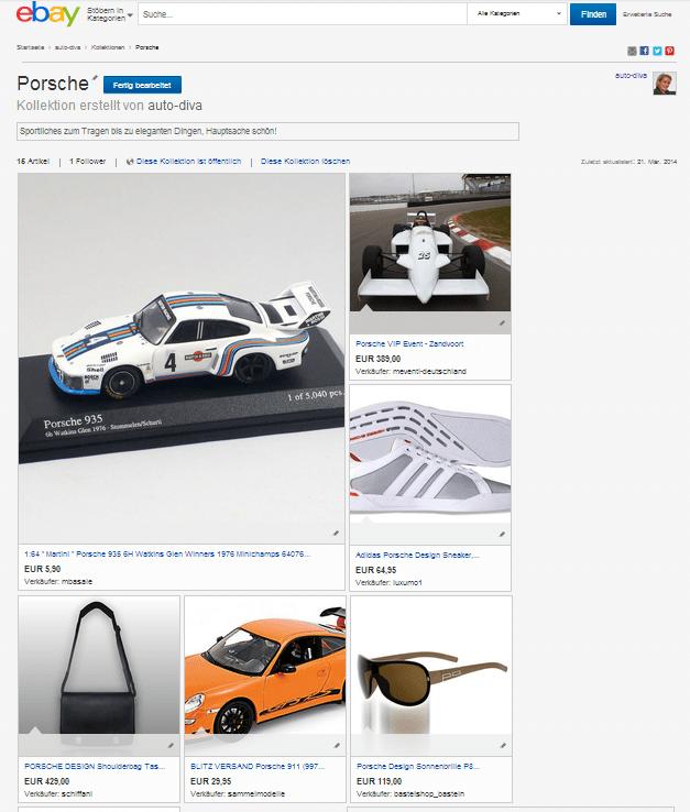 eBay-Kollektion Porsche