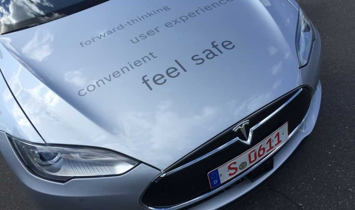 Tesla Model S Automatisiertes Fahren bei Bosch