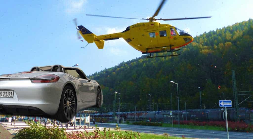 Kindheitstraum fliegender Porsche