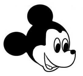 Nachgezeichnete Mickey Mouse Kopie Aufkleber