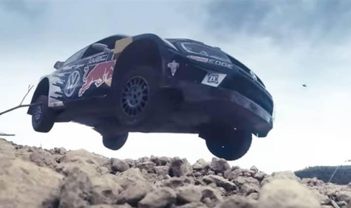 VW WRC Rallye Sprung