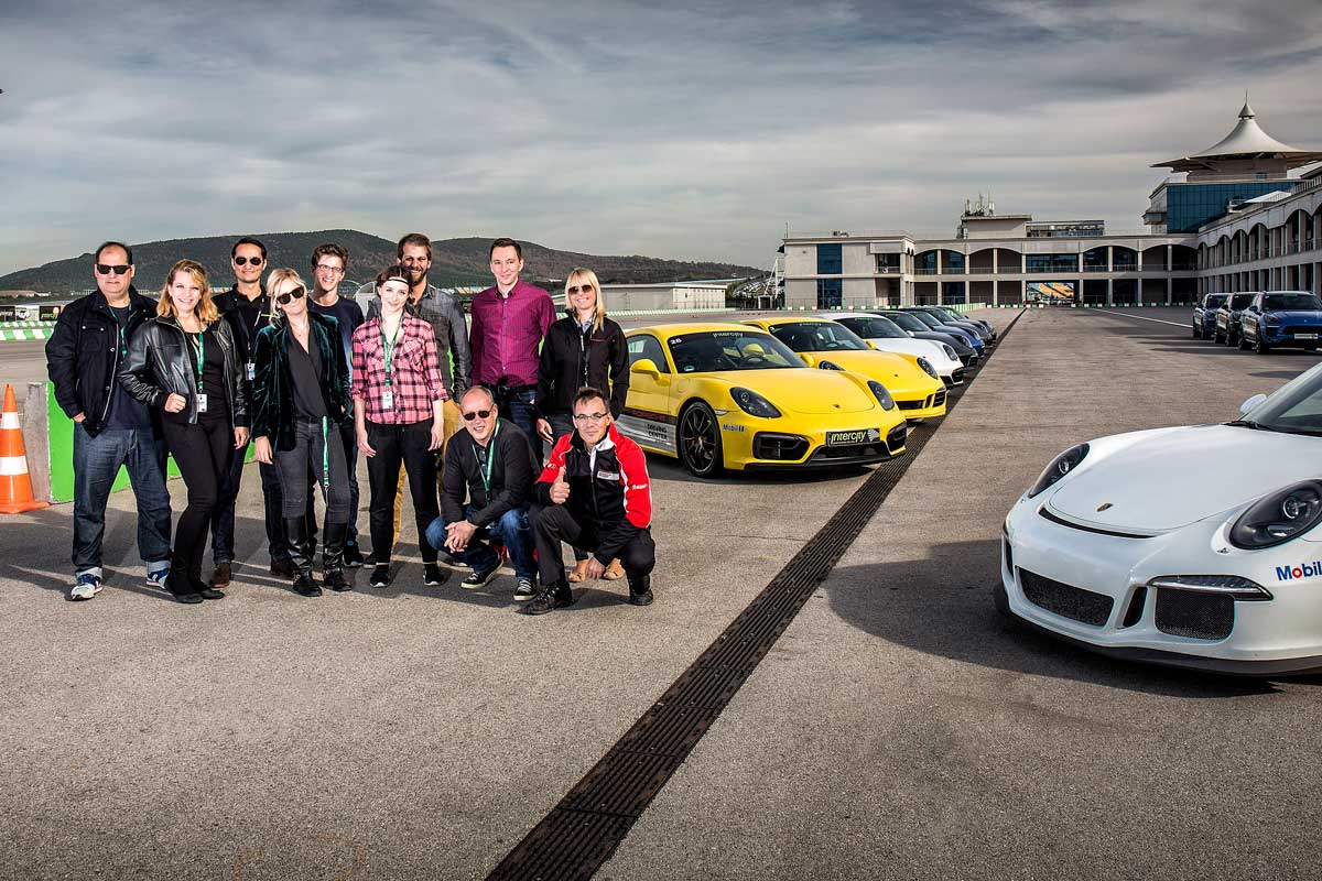 Porsche Driving Experience Teamfoto
